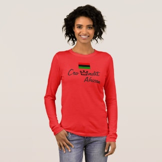 Douille de T-shirt africain de femmes de Crowndit
