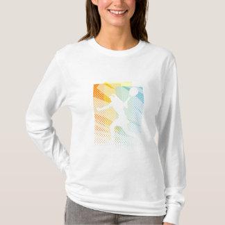 Douille de T-shirt du tennis des femmes longue