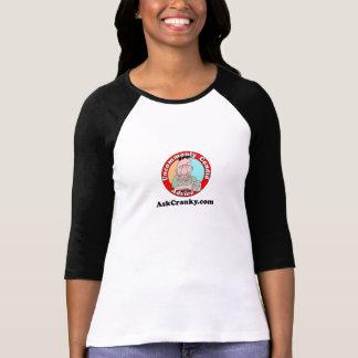 Douille des femmes d'AskCranky la 3/4 T-shirt