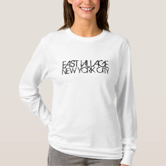 DOUILLE DES FEMMES DE NEW YORK CITY D'EAST VILLAGE T-SHIRT