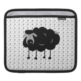 Douille d'iPad de moutons noirs de bande dessinée Housses iPad