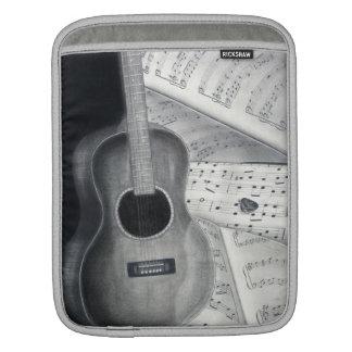 Douille d'iPad de musique de guitare et de feuille Housses iPad