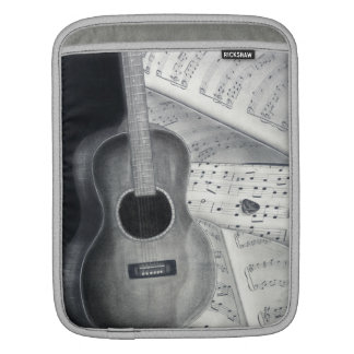 Douille d'iPad de musique de guitare et de feuille Poches iPad