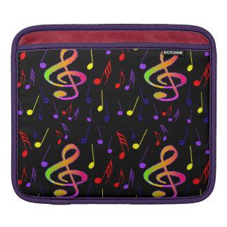 Douille d'ipad de notes musicales housses iPad