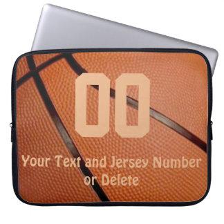 Douille d'ordinateur portable de basket-ball avec housses ordinateur