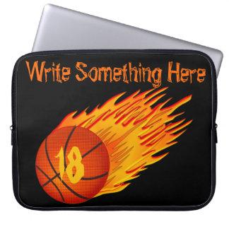 Douille d'ordinateur portable de basket-ball protection pour ordinateur portable