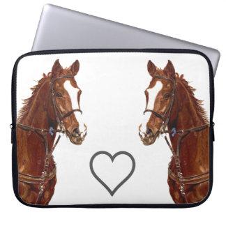 Douille d'ordinateur portable de cheval de pur san trousses ordinateur