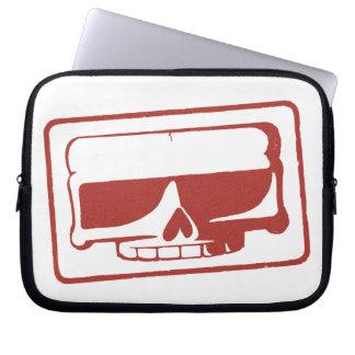 Douille d'ordinateur portable de crâne de timbre d housses ordinateur portable