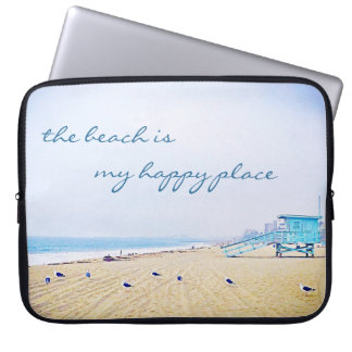 Douille d'ordinateur portable de photo de plage trousses pour ordinateur portable