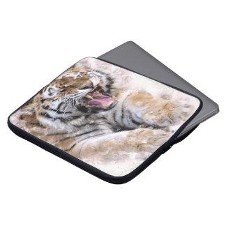 Douille d'ordinateur portable de tigre d'hurlement housse pour ordinateur portable