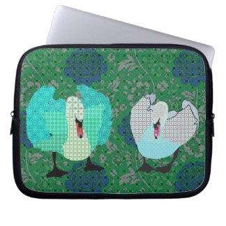 Douille élégante d'ordinateur de rose vert d'art d trousses pour ordinateur portable