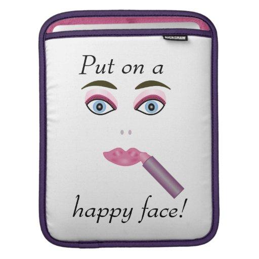 Douille heureuse d'iPad de visage Poches Pour iPad