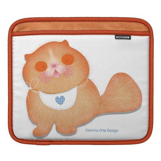 Douille mignonne et drôle de chaton de bébé pour l housses iPad