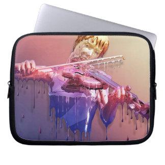 Douille pleurante d'ordinateur portable de violon trousse ordinateur