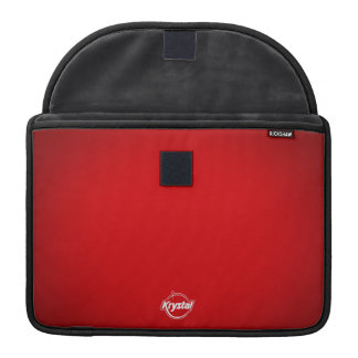 Douille rouge de MacBook Pro de logo de Krystal Poches Pour Macbook
