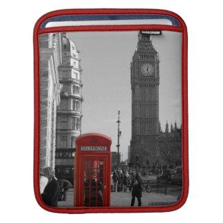Douille rouge d'iPad de cabine téléphonique de Lon Poches Pour iPad