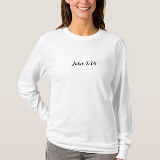 Douille T de dames de 3h16 de John longue T-shirt