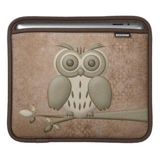 Douille universelle d'iPad de rétro hibou mignon Housses iPad
