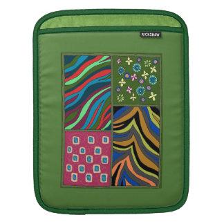 Douille verte tropicale audacieuse de verticale poches pour iPad