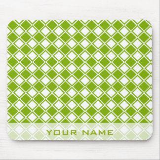 Douilles vertes et blanches et électronique de dia tapis de souris