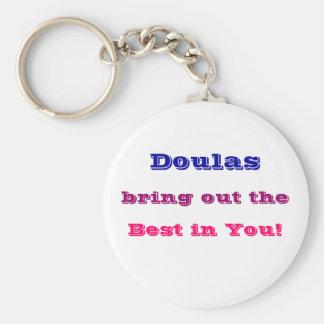 """""""Doulas mettent en évidence le meilleur dans vous Porte-clé Rond"""