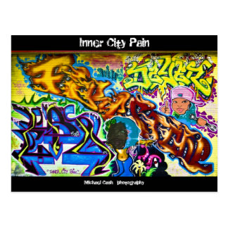 Douleur de centre urbain carte postale