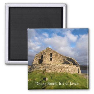 Doune Broch, Carloway, île d'aimant de Lewis Magnet Carré