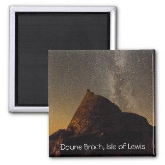 Doune Broch, Carloway, île d'aimant de Magnet Carré