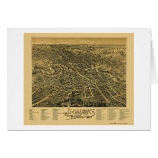 Douvres, carte panoramique de NH - 1888