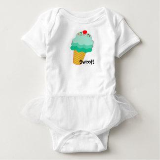 Doux ! Tutu de bébé de cornet de crème glacée Body