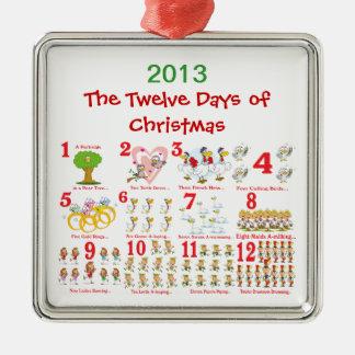 Douze jours de Noël Ornements