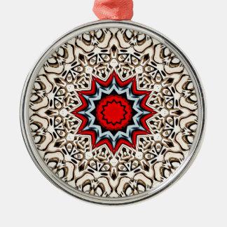 Douze points de mandala ornement rond argenté