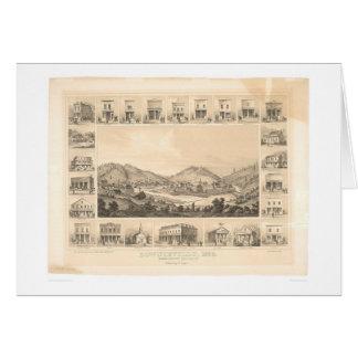 Downieville, carte panoramique 1856 (0522A) de CA
