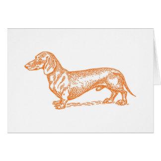 Doxie classique - carte vierge orange