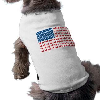 Doxie - drapeau américain patriotique de teckel t-shirt pour chien