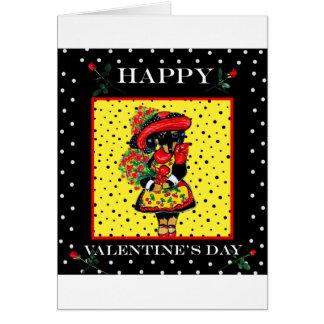 Doxie mignon Valentine Carte De Vœux