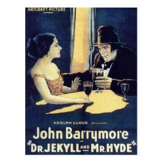 Dr Jekyll et carte postale de M Hyde