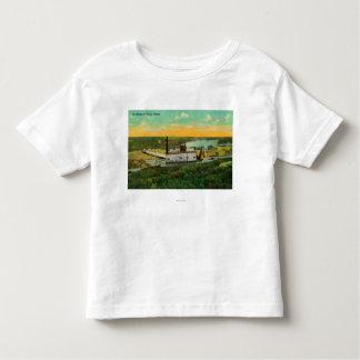 Dragage pour l'extraction de l'or dans AlaskaState T-shirt Pour Les Tous Petits