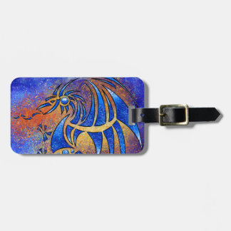 Dragissous V1 - dragon bleu Étiquette À Bagage