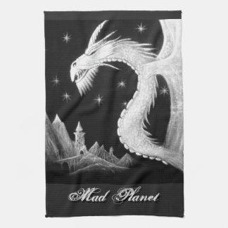 Dragon à la peinture de nuit linge de cuisine