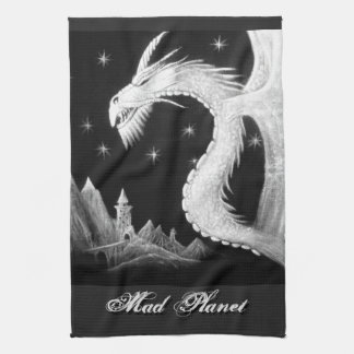 Dragon à la peinture de nuit linges de cuisine