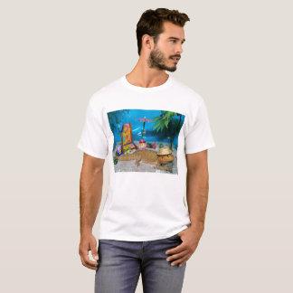 Dragon barbu au T-shirt des hommes de plage