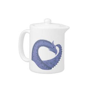 dragon Bleu-gris de coeur sur le blanc