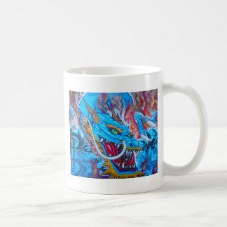 Dragon bleu mug blanc