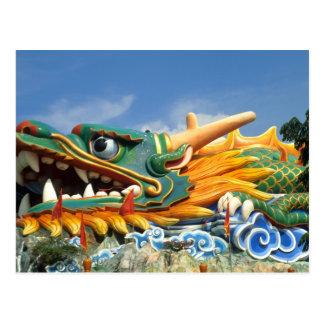Dragon célèbre à la villa de pair de baie d aubépi cartes postales