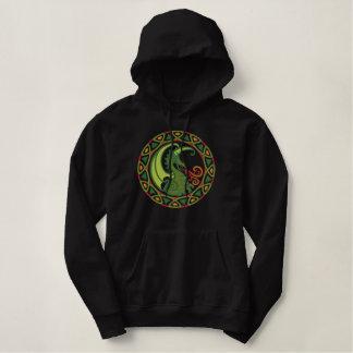 Dragon celtique sweatshirt avec capuche