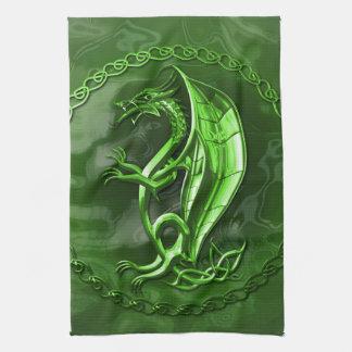 Dragon celtique vert serviettes éponge