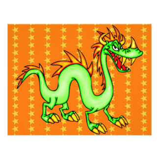 Dragon chinois beau prospectus 21,6 cm x 24,94 cm