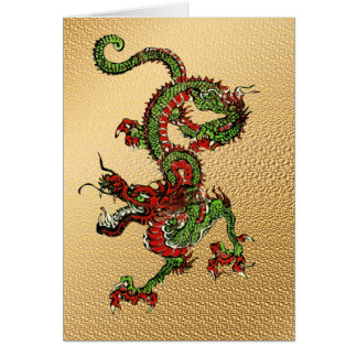 Dragon chinois carte de vœux