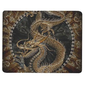 Dragon chinois dans Brown texturisé Carnet De Poche